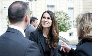 Aurélie Filippetti à la sortie du conseil des ministres, le 23 mai 2012.