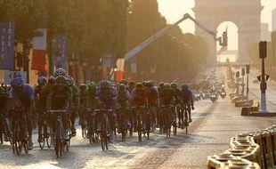 L'arrivée du Tour de France 2013 sur les Champs-Elysées le 21 juillet 2013.