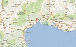 Google Maps de Montpellier (Hérault).