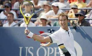 Le Français Richard Gasquet a battu Nikolay Davydenko à l'US Open de New York le 2 septembre 2010.