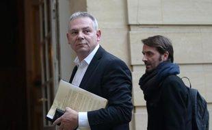 Le secrétaire général de la CGT, Thierry Lepaon, le 29 janvier 2014 à son arrivée à Matignon à Paris