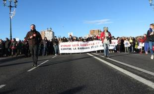 Entre 15.000 et 20.000 personnes ont marché contre la barbarie à Toulouse après les attentats de Paris.