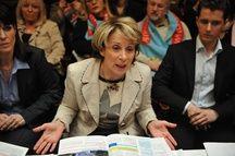 Presentation du programme de campagne de Brigitte Bareges tete de liste UMP pour les elections regionales en Midi Pyrenees.