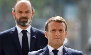 Emmanuel Macron et Edouard Philippe, le 8 mai 2020 à Paris.