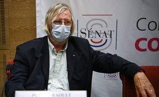 Didier Raoult a été auditionné par la commission au Sénat sur la gestion de la pandémie Covid-19 mardi 15 septembre 2020.