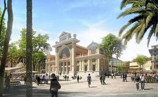 A Nice, le chantier de la gare du Sud débute avec la construction d'une médiathèque derrière la façade historique.