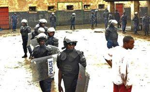 La cour de la prison centrale de Bukavu photographiée le 1er janvier 2012, d'où 331 détenus viennent de s'évader