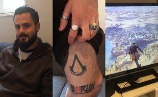 Mathieu M., lecteur tatoué de 20 Minutes était invité à découvrir Assassin's Creed Origins avant tout le monde