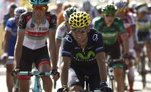 Alejandro Valverde a perdu tout espoir de podium sur le Tour de France 2013 le 12 juillet.