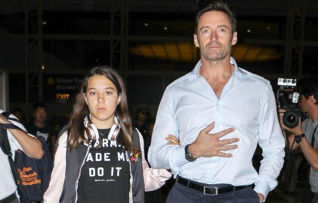 Hugh Jackman et sa fille Ava, le 17 juillet 2017 à Hollywood.