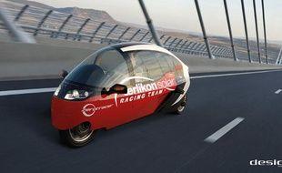 Le Zerotracer, un des véhicules qui participe au Zero Race, tour du monde en 80 jours sans émissions de carbone.
