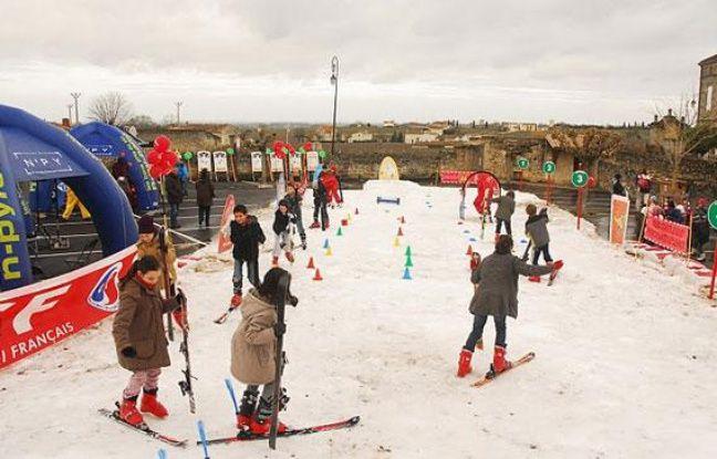 Les stations de ski pyrénéennes reconstituent une piste à Saint-Emilion