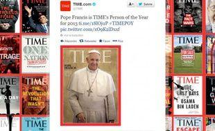 Le pape François est la personnalité de l'année 2013pour TimeMagazine