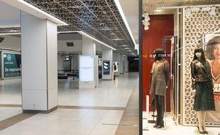 Un centre commercial désert à Rouen, en novembre 2020.