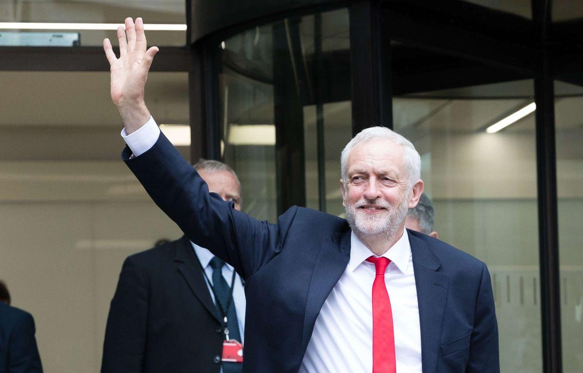Le leader du parti Travailliste britannique au lendemain des élections législatives anticipées le 9 juin 2017 à Londres. – Flores/LNP/Shutterstock/SIPA
