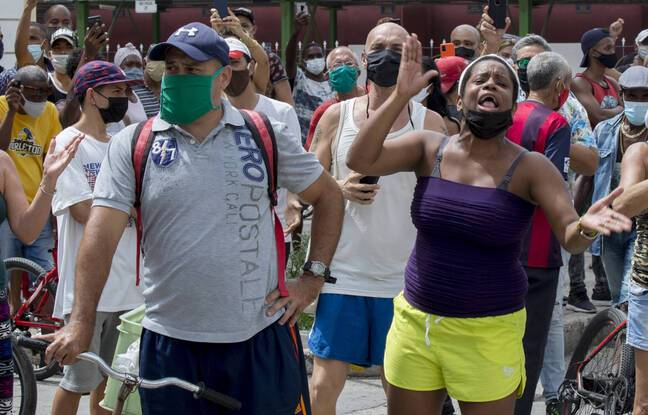 648x415 des manifestants contre la politique du gouvernement a la havane le 11 juillet 2021