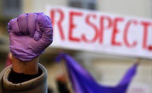 Manifestation contre les violences faites aux femmes à Paris.