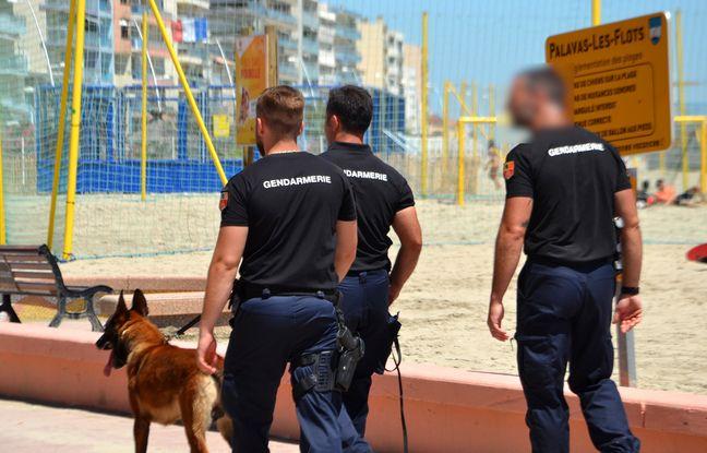 Des gendarmes, ce lundi, à Palavas-les-Flots