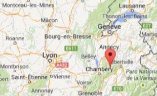 Google Map du massif des Bauges, en Savoie.