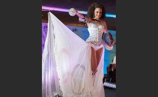 La robe d'Alicia Aylies, Miss France 2017, pour le concours de Miss Univers.