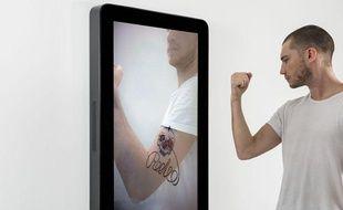 «Tattouar», installation présentée par EPFL+ECAL LAB à Pantin.