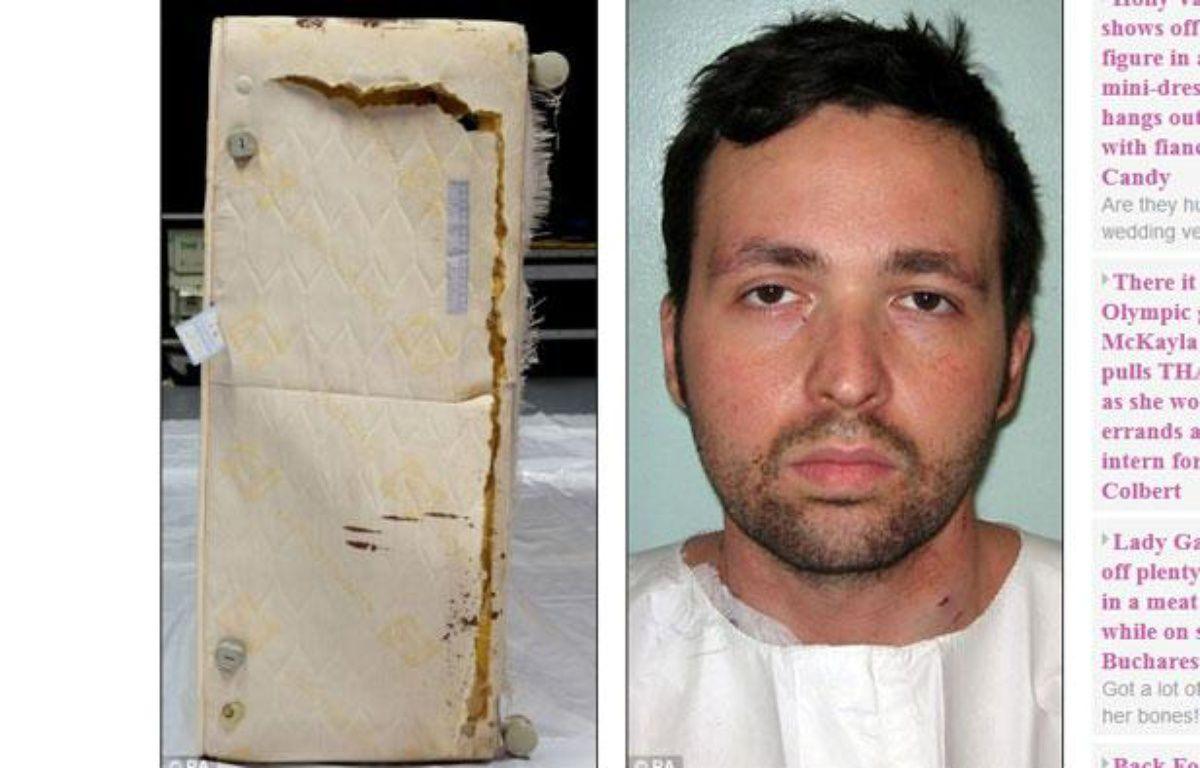 Capture d'écran du site du Daily Mail montrant le meurtrier Attila Ban et le lit dans lequel il s'est caché durant deux jours. – 20minutes.fr