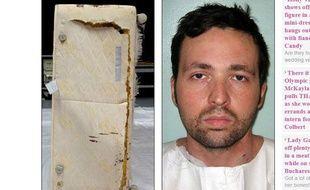 Capture d'écran du site du Daily Mail montrant le meurtrier Attila Ban et le lit dans lequel il s'est caché durant deux jours.