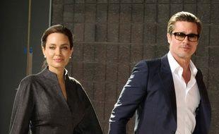 Angeilna Jolie et Brad Pitt
