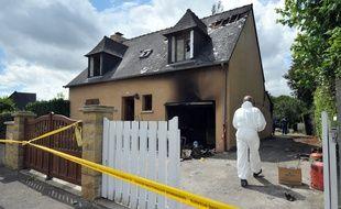 La maison incendiée de