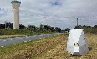 Un radar provisoire a été installé sur la RD 6 à Trégomeur, dans les Côtes d'Armor.
