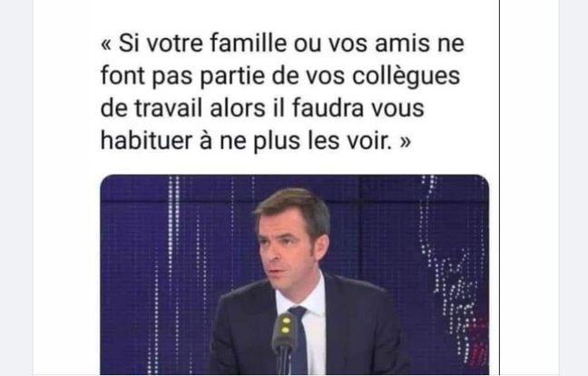 La fausse citation attribuée à Olivier Véran.