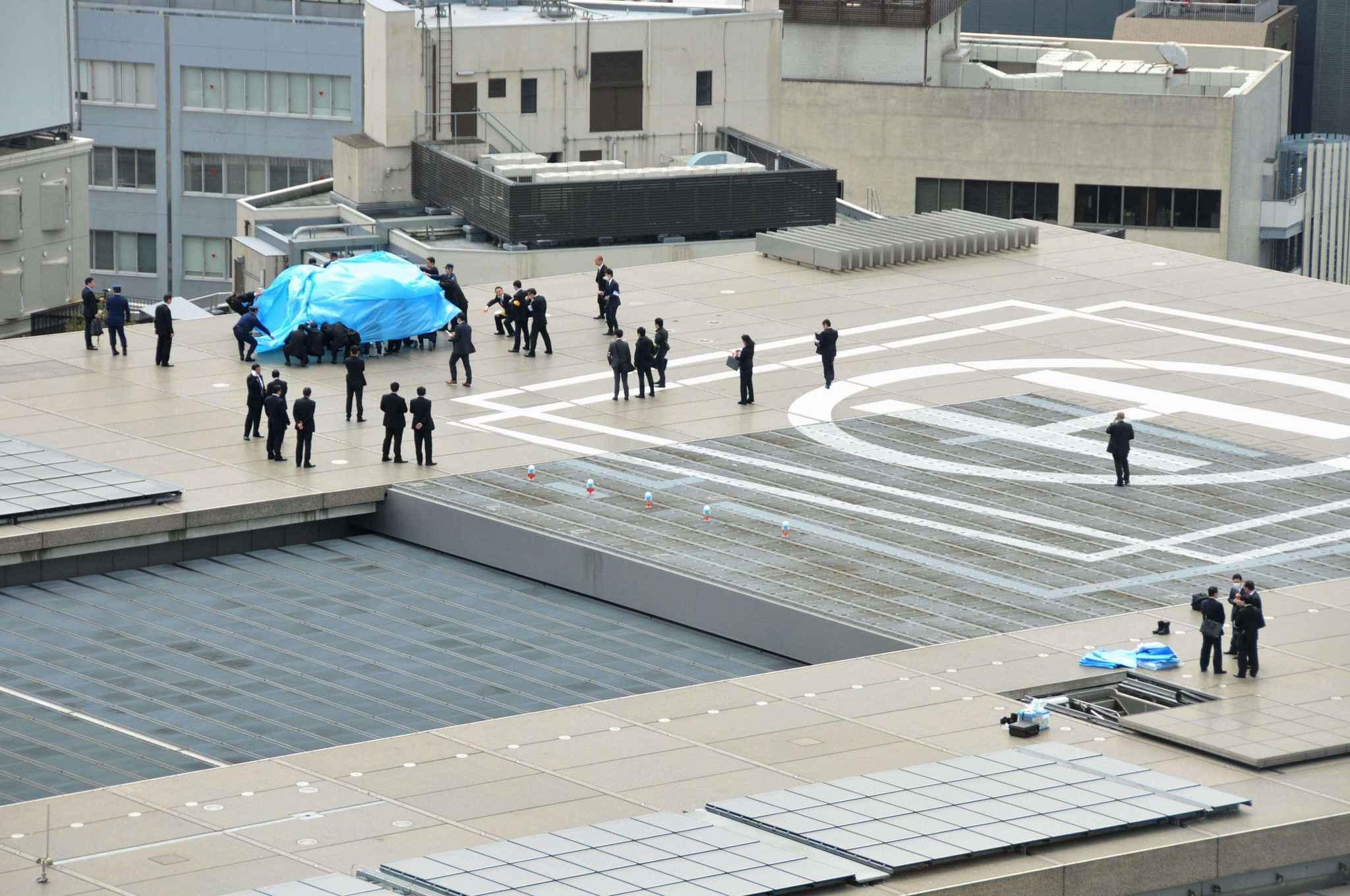 un drone radioactif d couvert sur le toit du premier ministre japonais. Black Bedroom Furniture Sets. Home Design Ideas