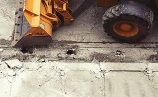 Un bulldozer (illustration).