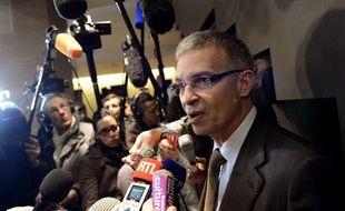 Patrick Bernasconi, représentant du Medef, à Paris, le 11 janvier 2013.