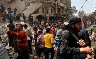 """Le gouvernement syrien de Bachar al-Assad fait un """"usage massif"""" d'armes à sous-munitions depuis la mi-2012, selon un rapport publié par la Coalition sur les armes à sous-munitions, regroupant 350 organisations de la société civile de plus de 90 pays."""
