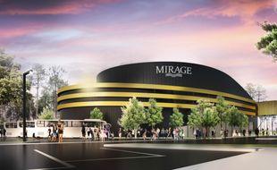 La salle de spectacles Mirage Expérience proposera 1.000 places assises et un écran géant de 650 m2.