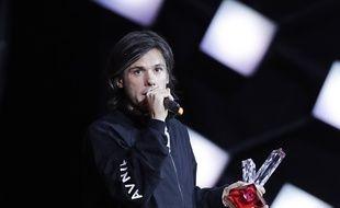 Le rappeur Orelsan a remporté trois trophées aux Victoires de la musique, le 9 février 2018.