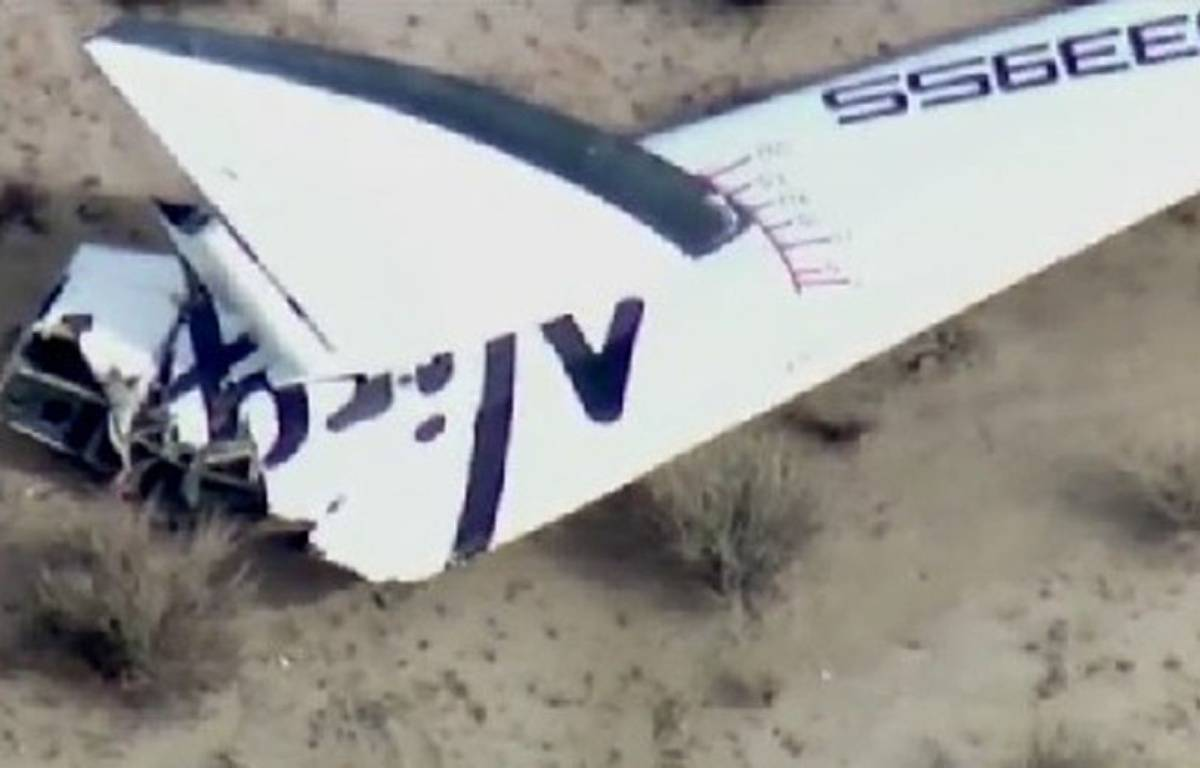 Photo prise de SpaceShipTwo, vaisseau spatial la firme de Richard Branson qui s'est écrasé le 31 octobre. – 23ABCNEWS