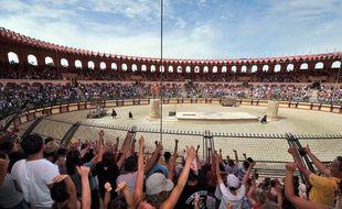 Le Signe du triomphe et son combat de gladiateurs, l'un des spectacles phares du Puy du Fou.