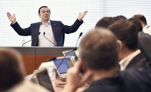 Carlos Ghosn en interview à Yokohama en 2016