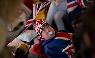 John Loughrey, un fan de la monarchie britannique, à Londres, le 27 avril 2015.
