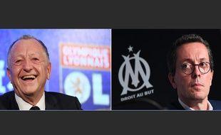 Jean-Michel et Jacques-Henri Eyraud, les présidents de l'OL et l'OM.