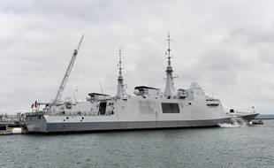 La frégate «Aquitaine» de la Marine française, à Brest, en 2017.