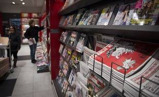 «Charlie Hebdo» en kiosques le mercredi 25 février 2015.