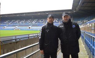 Fabien Lefèvre (à gauche) et Jean-Yves Hours (à droite) ont débarqué naturellement en Alsace après proposition de l'entraîneur Thierry Laurey.