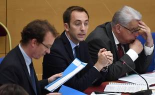Jean-Marie Girier (au centre) auditionné ce lundi au Sénat