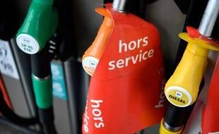 Une pompe à essence hors service (image d'illustration).