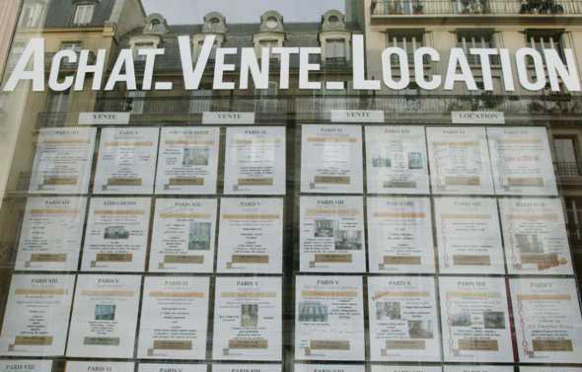 Une agence immobilière, à Paris. – APESTEGUY/SIPA