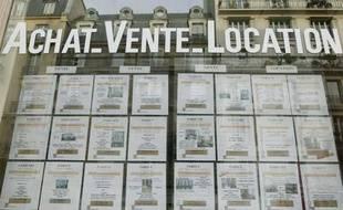 Une agence immobilière, à Paris.