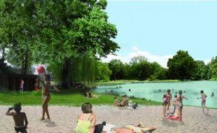 Une baignade dans le lac Daumesnil.